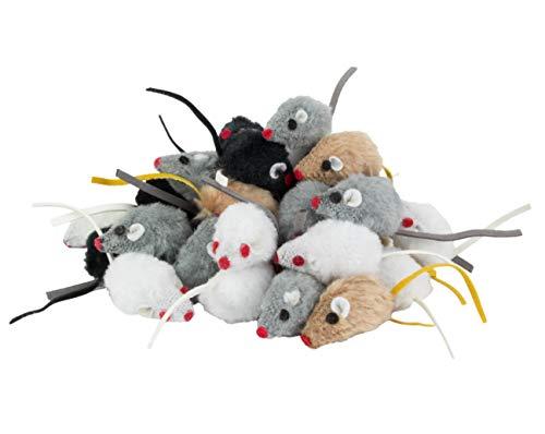 Kratzbaumland Spielmaus mit Katzenminze (zufällige Farbe - 12 Stück)