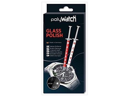 polyWatch Glas Kratzer-Entferner Glass Polish Glas Politur Einzelpack für Uhren, Smartphone, Fenster, Auto, Möbel, uvm.