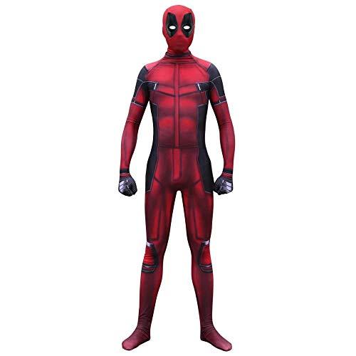 YQFZ Deadpool Cosplay Kostuum Volwassene Kinderen, Film Spel Cosplay Prop Rol Speel Bodysuit Jumpsuits Attire, Halloween Fancy Dress Kostuum