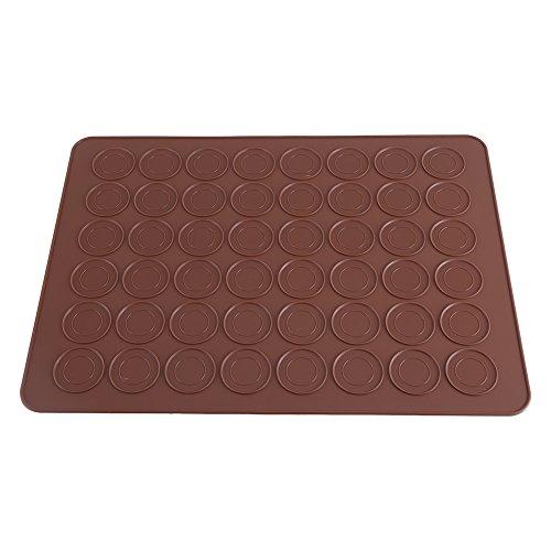 Dewin Macarons Schablonen - 48 Hohlraum-Silikon-Form-Blatt-Matte Makronen-Plätzchen-Gebäck DIY Bakeware das Werkzeuge verziert