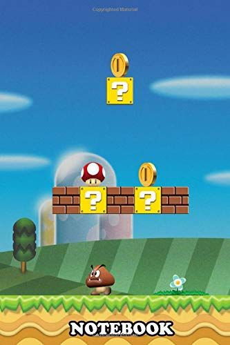 Notebook: Mario Level 1 , Journal for Writing, College Ruled Size 6