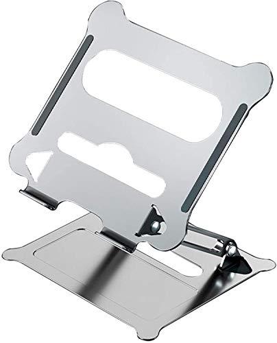 WJJ Soporte Para Laptop Portátil Recliner Ergonic Portable Portátil Riser Portátil Portátil Ajustable Disipación De Calor Huecos Compatible Con 11 '' -17 '' Tabletas Cuaderno Soporte Para Laptop Plega