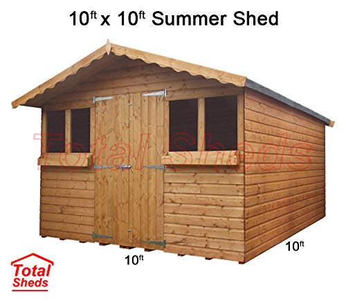 Total Sheds 10ft (3.0m) x 10ft (3.0m) Garden Shed Summer Shed Timber Shed