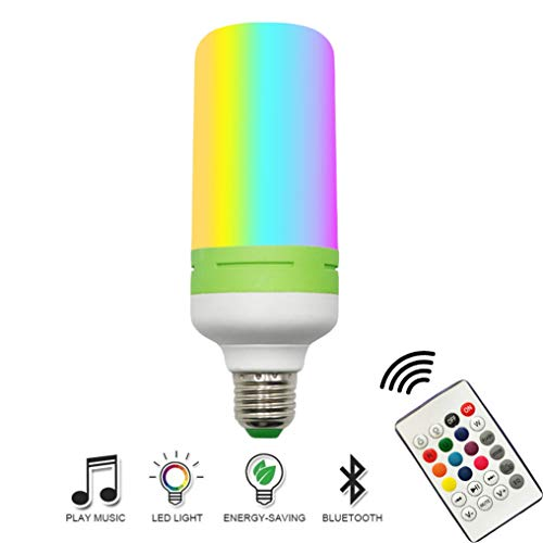 XMYX Bombillas Cambio de Color con Altavoz Bluetooth y Mando a Distancia E27 12W RGBW Bombilla LED Lámpara Regulable Luz de Estado de Ánimo para Hogar Decoración Bar Fiesta Ambiente Iluminación