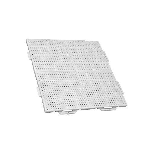 TERRAGUIDE SUN Piastrelle flessibili per pavimento 1m², 4 unità di 50 x 50cm, 16 lastre di clic, bianco