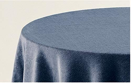 HIPERMANTA Falda Mesa Camilla Redonda Lisa Tacto Suave 100% Poliéster. Tamaño diámetro 70 cm - 213 cm, Azul.