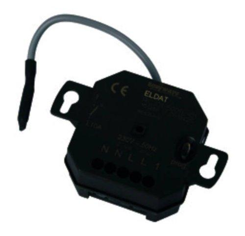Easywave RCJ015001E01 Unterputz-Empfänger RCJ01 1- Kanal 230V, Schwarz