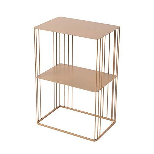 BJYG - Mesa de centro de hierro forjado para exteriores, mesa auxiliar de planta, juego de una (17,5 x 11,8 x 25,9 pulgadas)