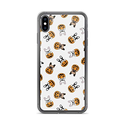 Compatible for iPhone 6/6s Case Frenchie Pup Peeking Pumpkin Gifts TPU Anti-Scratch