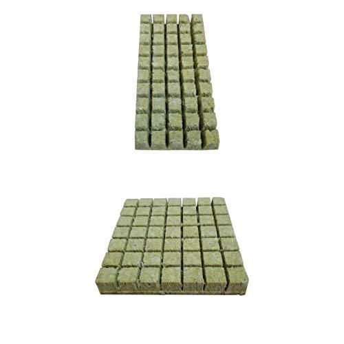 prasku 2X Mini Blöcke Wachsen Medien Steinwolle Set Gartenbau Sämling Bodenloses Pflanzen