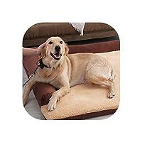 大型犬用犬用ベッドリムーバブルペットハウスソファ犬用ベッド犬小屋ソフトペットラウンジャー猫の巣子犬クッションマットハスキーラブラドール、ネイビー、L 100X90X7Cm