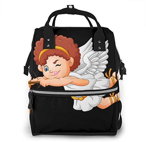 UUwant Sac à Dos à Couches pour Maman Large Capacity Diaper Backpack Travel Manager Baby Care Replacement Bag Nappy Bags Mummy Backpack,(Cartoon Cupid Angel Collection Set