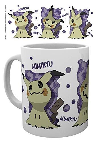 1art1 Pokemon, Halloween Mimikyu Foto-Tasse Kaffeetasse (9x8 cm) Inklusive 1x Überraschungs-Sticker