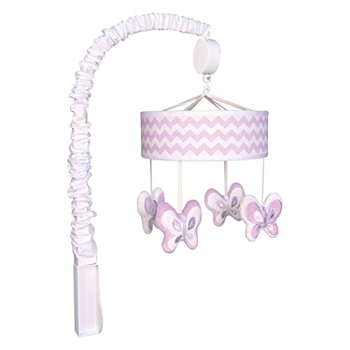 Orchid Bloom Chevron Musical Mobile