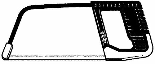 Stanley Metallbügelsäge ZollJunior (Zoll mit Pistolengriff, 150 mm Klingenlänge, 80 mm Bügelhöhe, Stahlrahmen, Spannhebel) 0-15-218