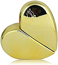Easy Refill Travel Perfume Atomizer Heart Bottle - Metallic Gold