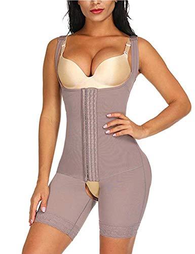 FeelinGirl Damen Miederbody Shaperwear Miederpants Corsage Korsett Schlank Bodysuit Miederhose Top, Nude, S