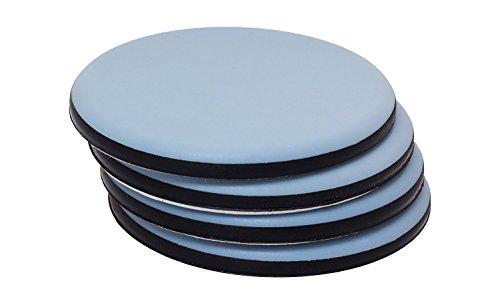 PTFE Meubelschuifregelaars (4 Pack) - Zelfklevend - Werkt op hardhouten vloeren en tapijt om wrijving te verminderen - De beste manier om zwaar meubilair te verplaatsen! 63 mm