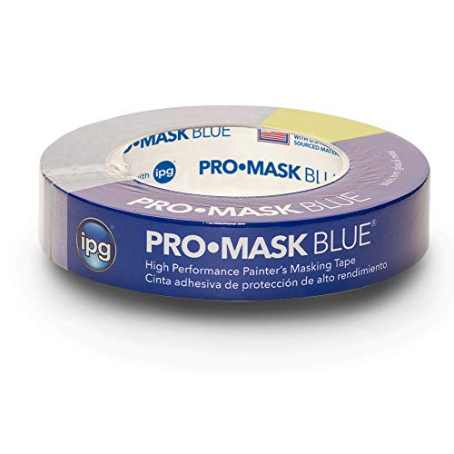 "IPG PMD24 ProMask Blue Designer 14-Day Painter's Tape, 0.94"" x 60 yd, (Single Roll)"