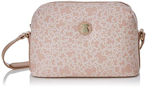 Tous Mediana Kaos Mini de Lona, Bolso bandolera para Mujer, Rosa (Pink), 9x15x24 cm (W x H x L)