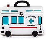 Caja de Medicina para niños Decorativa de Madera de Gran Capacidad portátil, botiquín de Primeros Auxilios para el...