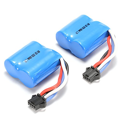 Qiyun UDI 2 Pieces Replacement Battery for UDI RC UDI001 Venom Speed Boat 3.7V 600mAh Li-ion