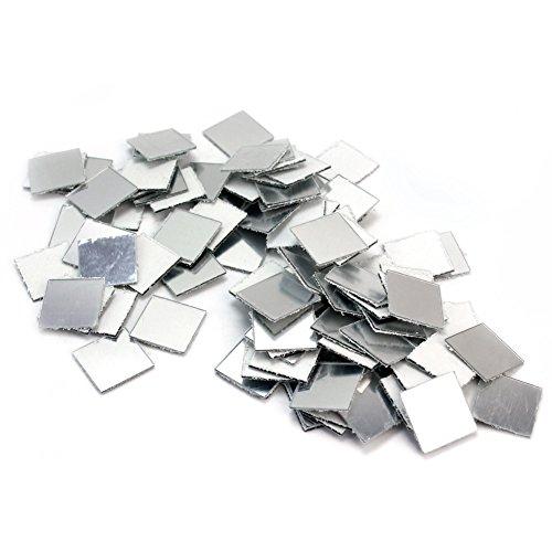 100 x Nuevo Pegatina Pared Espejo Cuadrado Mosaico