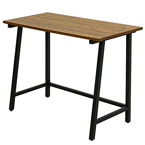 Meerveil Computer Desk, Small Home Office Desk, 100x50x76cm, Gaming PC...