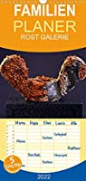 ROST GALERIE - Familienplaner hoch (Wandkalender 2022 , 21 cm x 45 cm, hoch): Bluehendes Metall das ganze Jahr (Monatskalender, 14 Seiten )