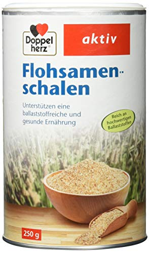 Doppelherz Flohsamenschalen/Ballaststoffreiche Nahrungsergänzung zur Unterstützung der Verdauung - geschmacksneutral/1 x 250 g