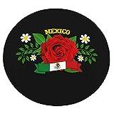 WEIPING Manta Redonda de Rosa roja de México, Manta Envolvente como Manta de Aire Acondicionado, sofá y Manta de Cama para niños y Adultos