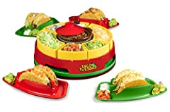 Taco tuesday: Perfect for taco Tuesdays - or any day of the week. Get creative when making tacos, burritos, nachos, fajitas and other great Mexican dishes Removable warming pot: Removable, 20-ounce warming hot pot keeps queso, meats, beans, rice at t...
