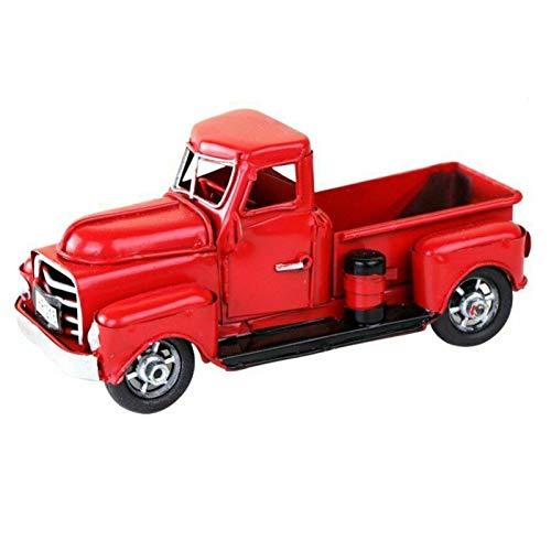 Rehomy Camión de camioneta rústica vintage de metal para decoración de la oficina del hogar para