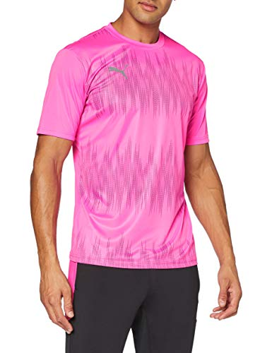 PUMA Ftblnxt Graphic Shirt Core Camiseta, Hombre, Luminous Pink Black, L
