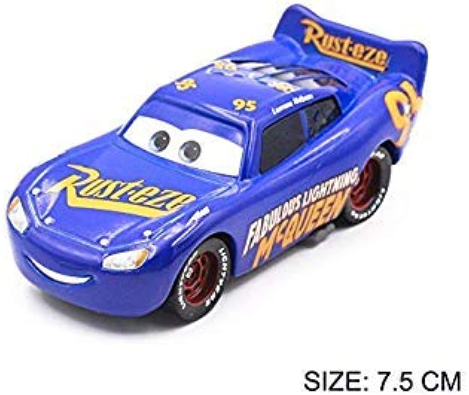 27 Style Pixar Cars 3 Black Storm Jackson Mater Vehicle 1 55 Diecast Metal Alloy Toys Model Car Birthday Gift for Kids bluee
