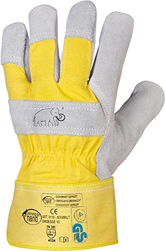 Rindspaltleder-Handschuh MAMMUT Gr. 10 (12 Paar)