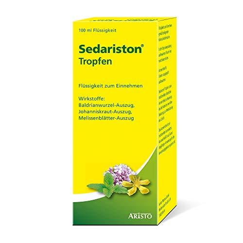Sedariston® Tropfen bei Unruhe, Stress, Anspannung, Schlafproblemen, pflanzliches Arzneimittel aus Johanniskraut, Baldrian + Melisse, 100 ml