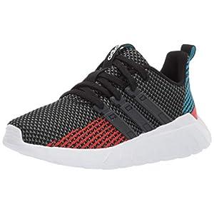adidas Kids Unisex's Questar Flow Running Shoe, Black/Grey/Active red, 5 M US Big Kid