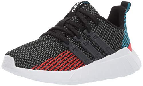 adidas Kids Unisex's Questar Flow Running Shoe, Black/Grey/Active red, 3.5 M US Big Kid