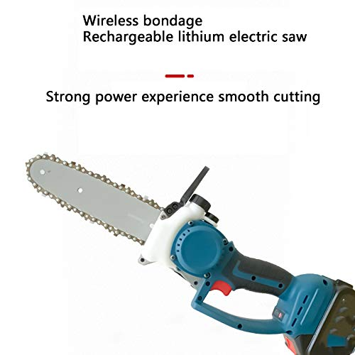 Small Cordless Chainsaw, Household Handheld Chainsaw Cordless Lithium Battery Chain Saw Logging Saw Mini One-Handed Outdoor Chain Saw,2battery