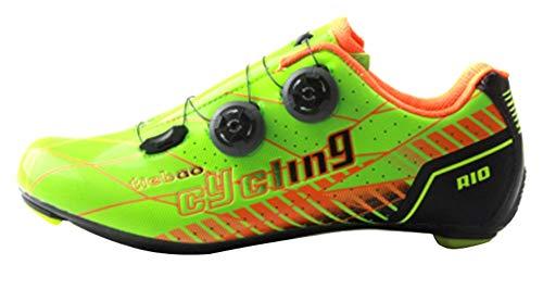 Insun Hombre Zapatillas de Ciclismo con Suela de Carbono y Ademas de...