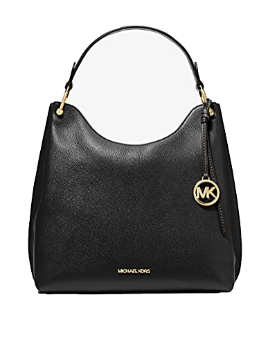 Michael Kors Women's Joan Large Slouchy Shoulder Bag Style 35S1GV9L3L (Black)