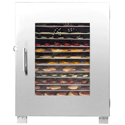 Purchase Commercial Grade Stainless Steel Electric Food Dehydrator Machine, Fruit Dryer with 10/16 T...