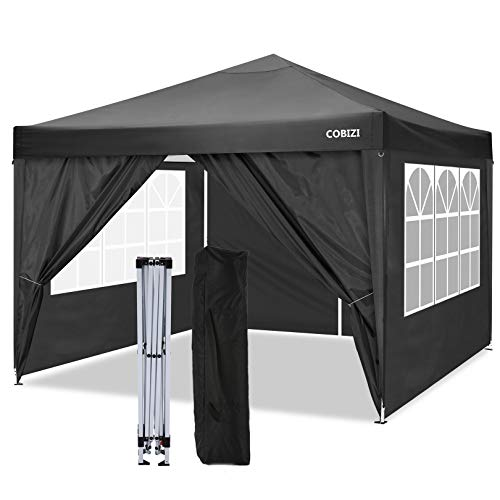 COBIZI 3x3m Pop up Gazebo Tent Commercial Instant Shelter, Fully...