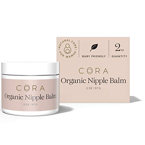 Cora Organic, Lanolin-Free, Baby-Safe Nipple Cream/Nursing Balm Soothes Nipples Naturally for Safe, Comfortable Breastfeeding