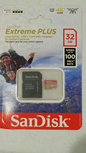 SanDisk Extreme PLUS 32GB microSD Action Camera Card