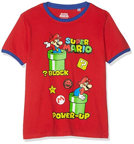 Super Mario Bros 6592 Camiseta, Rojo...