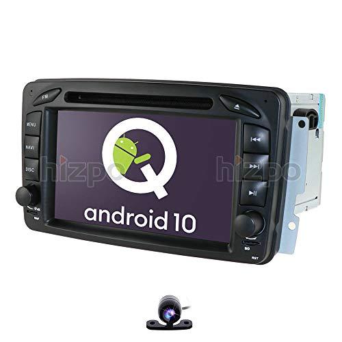 Android 10 1+16 GB coche GPS DVD USB SD Bluetooth Autoradio 2 Din NAVI para Mercedes-Benz A-W168 C-W203 Viano G-W463 Vito Vaneo CLK-C209/W209 A cámara trasera gratuita