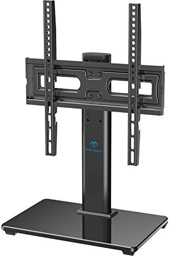 TV Standfuß, Perlesmith TV Ständer für 32-55 Zoll OLED LCD Flach & Curved Fernseher oder Monitore bis zu 40kg. Max.VESA 400x400mm