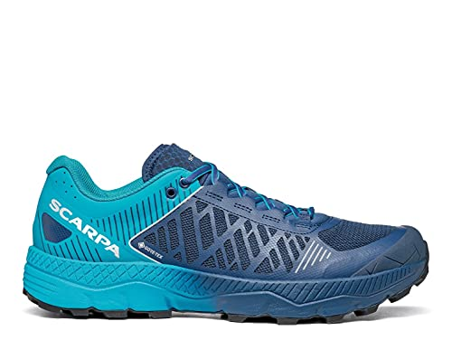 SCARPA Men's Spin Ultra GTX Waterproof Gore-TEX Trail Shoes for Hiking and Trail Running - Ottanio/Navy - 10-10.5